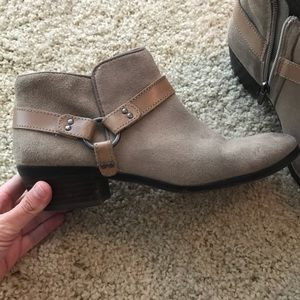 Sam Edelman suede ankle zipper booties